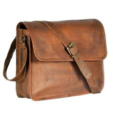 Men's Shoulder Brown Bag Business Leather Briefcase Handbag Messenger Laptop Bag