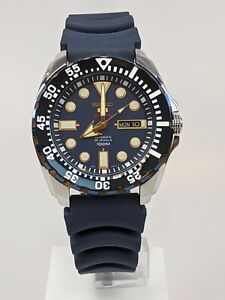 Seiko 5 Sports Automatic  'Blue Monster' Silicone Strap Men's Watch SRP605K2