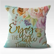 US SELLER-  enjoy the little things flower cushion cover decorative