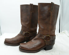 Frye USA Harness 12R Womens Sz 8.5 Oiled Leather Work Motorcycle Biker Boots