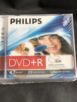 Philips DVD+R DR4I6J10C/00C 4.7 GB/120 min 16 x DATA AUDIO DISCS PACK OF 5 NEW