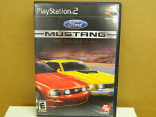 Play Station 2 MUSTANG The Legend Lives Rated E 2005 Complete US Guaranteed