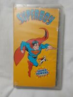 SUPERBOY Super Powers Collection (VHS 1985) RARE OOP cartoon 8 episodes DC HTF