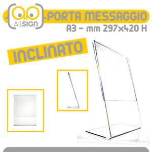 ESPOSITORE A4 PORTA AVVISI PORTA FOTO  E PORTA DEPLIANT TAVOLO UFFICIO PAB401
