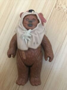 Vintage star wars last 17 paploo ewok figure with original hood