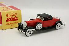 Solido Hachette 1/43 - Duesenberg J Spider 1935 Rouge