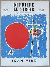 derriere le Miroir # JOAN MIRO # 8 lithograps, 1948, nm