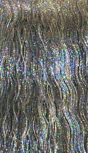 Lametta Champagner Bronze Kupfer Laser Silber Gold Stanniol Weihnachtskugel DEKO