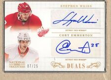 Stephen Weiss  2013-14 National Treasures Cory Emmerton Dual Auto 07/25