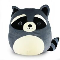 "8"" RACCOON Squishmallows Super Soft Plush Toy Animal Pillow Pal Buddy"