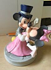 Vintage Disney Mickey & Minnie Mouse Dancing Ceramic Figurine Top Hat Ball