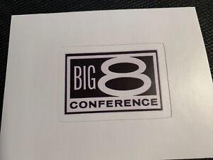 "Big 8 Conference Logo Sticker Football Basketball Eight NCAA Colors  2.2"" x 1.6"""