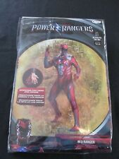 Red Power Rangers Adult Men's Halloween Costume size XL 42-46 New Cosplay