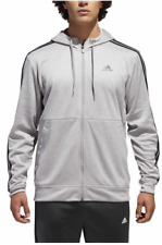 c6e23234e879 adidas Men s Climalite Tech Hoodie Fleece Lined Full Zip Sweatshirt Gray 2xl