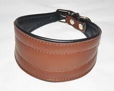 Collier chien lévrie levrette barzoï Marron neuf en cuir 100% véritable  45 cm