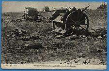 CPA: Pièces d'artillerie allemande (Montreuil-aux-Lions) / Guerre 14-18