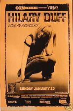 "Hilary Duff 2004 ""Metamorphis Tour"" San Diego Concert Poster - Pop Rock Music"