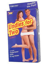 Undies Underwear For Two With 4 Leg Holes Openings Novelty Gag Gift