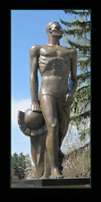 Poster Panorama Michigan State University Spartan Statue Panoramic Art Print