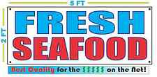 FRESH SEAFOOD Banner Sign NEW Larger Size Best Quality for The $$$ RWB