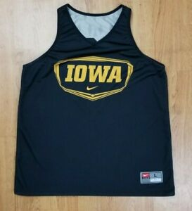 Iowa Hawkeyes Reversible Basketball Jersey Nike Authentic Team Issue #21 L