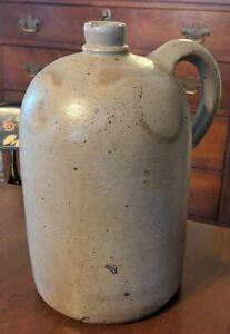 Antique American Stoneware Jug Salt Glaze 19th C Mid-Atlantic