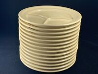 Set of 14 Vintage Tan Dallas Ware P-46 Divided Melamine/Melmac Plates