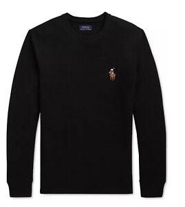 Polo RALPH LAUREN Men's Shirt Polo Bear Waffle Knit Thermal Long Sleeve L XL XXL