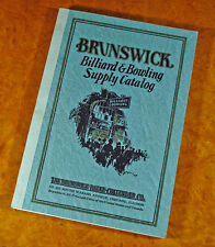 Repro of 1928 Brunswick (BBC) Billiard & Bowling Supply Catalog