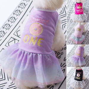 Soft Breathable Net Yarn Fluffy Skirt Pet Clothing Dog Cat Dress Princess Skirt*