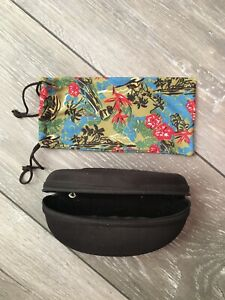 MAUI JIM SPORT Neoprene Sunglasses Case. Blackbwith Keychain + Soft Case