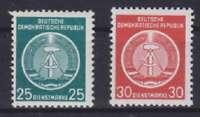 DDR Dienst Mi Nr. 10 - 11 **, Lot Dienstmarken, postfrisch, MNH