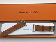 Apple Watch Hermes Strap - 44mm Fauve Barenia Leather Attelage Single Tour