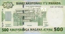 Ruanda / Rwanda 500 Francs 2004 Pick 30