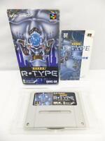 """ SUPER R-TYPE "" IREM SNES SFC NINTENDO SUPER FAMICOM BOXED JAPAN"