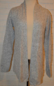 Women's Rue 21 Light Gray Long Sleeve Open Front Cardigan Sweater Sizes S, M