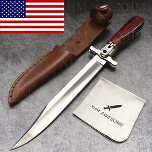 12'' Tactical Folding Dagger Knife Bayonet Combat Fighting Knives Outdoor EDC