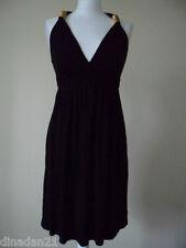 River Island women's dress, size 8, black with gold details, short