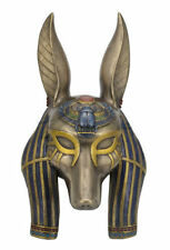 Egyptian Anubis Mask Sculpture Wall Plaque