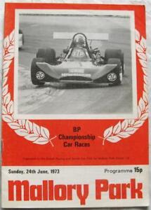 MALLORY PARK 24 Jun 1973 BP Championship Car Races Official Programme
