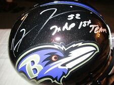 Ray Lewis Full Size Replica Helmet Autograph SILVER Ink JSA 7x AP 1st Team