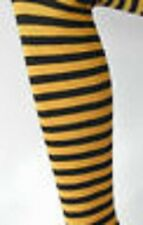 Striped Opaque Tights Footless  Colours Fancy Dress  Gothic  Punk  Roller Derby