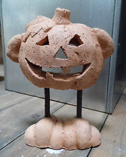 Halloween Pumpkin Statue Decoration with Feet - Terracotta Party Candle Lantern