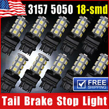 10x White 3157 3156 18-SMD LED Light Bulbs Back Up Tail Brake Stop Turn Signal