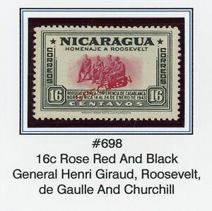 Nicaragua MNG FDR SPECIMEN Specialized: Scott #698 16c Thin Font $$$