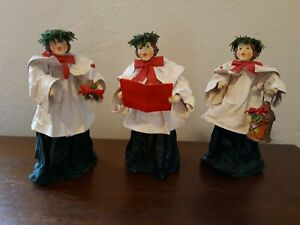 Lot of 3 Clothtique Possible Dreams Christmas Choir Carolers 1988