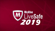 McAfee LiveSafe 2019 One Device 12 Month License New & Existing customers
