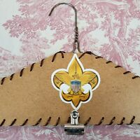 Handmade Boy Scout Coat Hanger with Clip