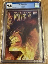 Hunt For Wolverine #1 CGC 9.8 1:500 Adam Kubert variant Marvel Comics 2018