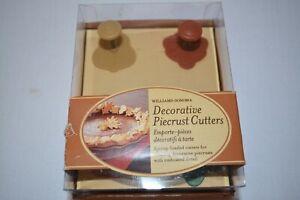 Williams Sonoma Decorative Pie Crust Cutters Set of 4, Oak Leaf Acorn Pumpkin